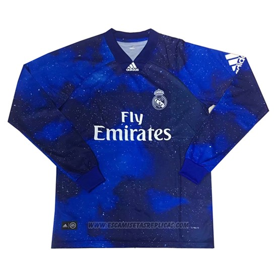 Camiseta Real Madrid EA Sports Manga Larga 2018 2019